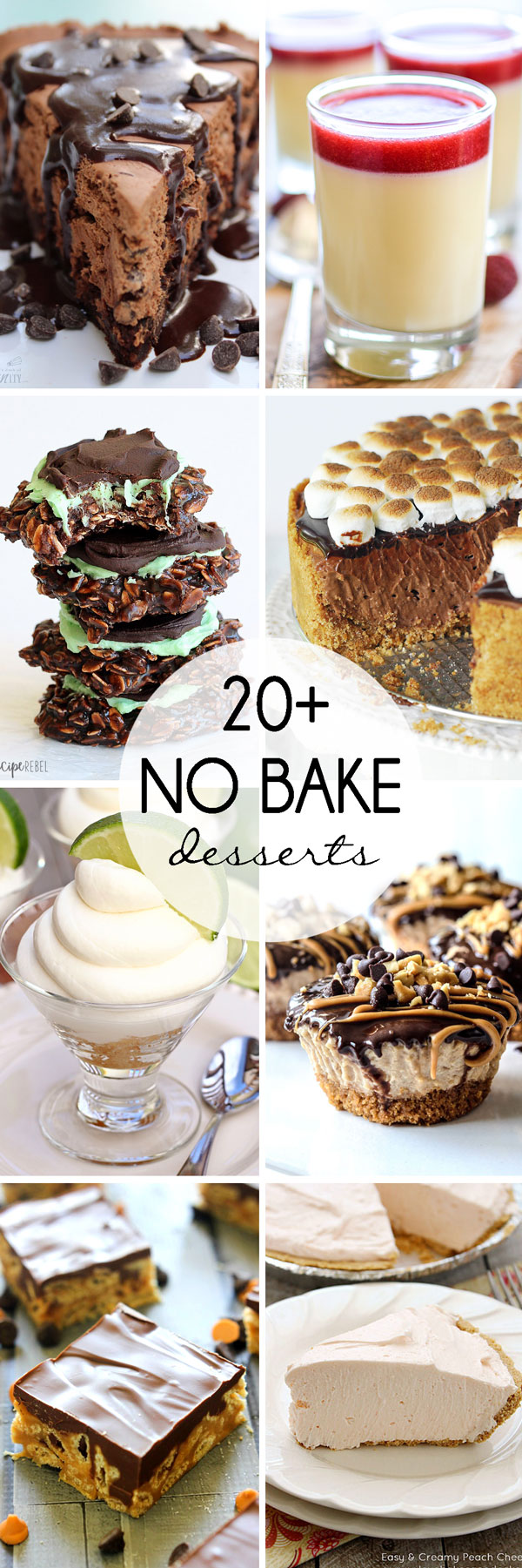 20+ No Bake Desserts for Summer: load up on these sweet treats to get you through the rest of summer that require no oven! | www.cookingandbeer.com