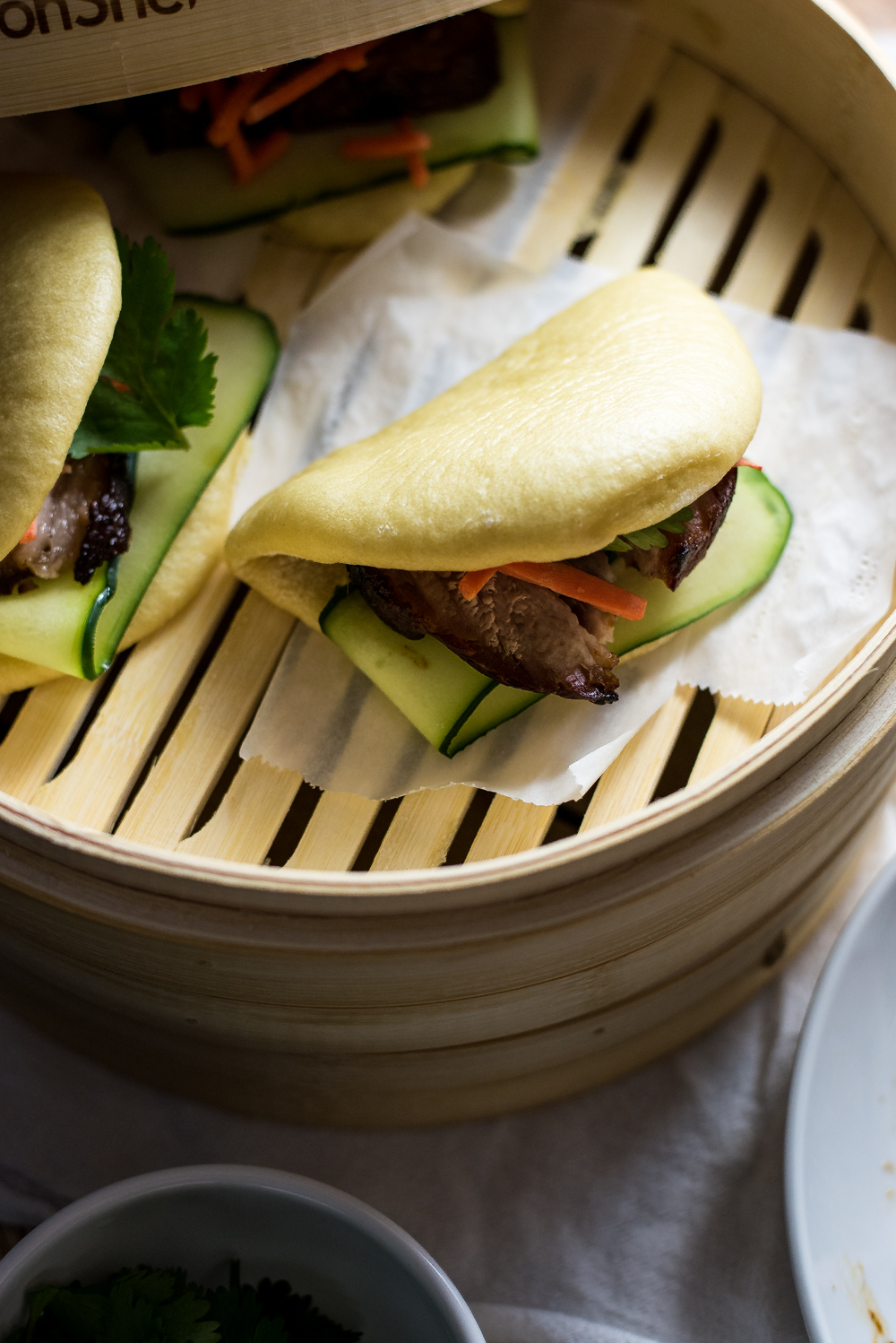 Taiwanese Braised BBQ Pork Belly Steamed Buns (Gua bao) don't have to be daunting to make! This simpler Gua bao recipe is perfect for holiday entertaining!