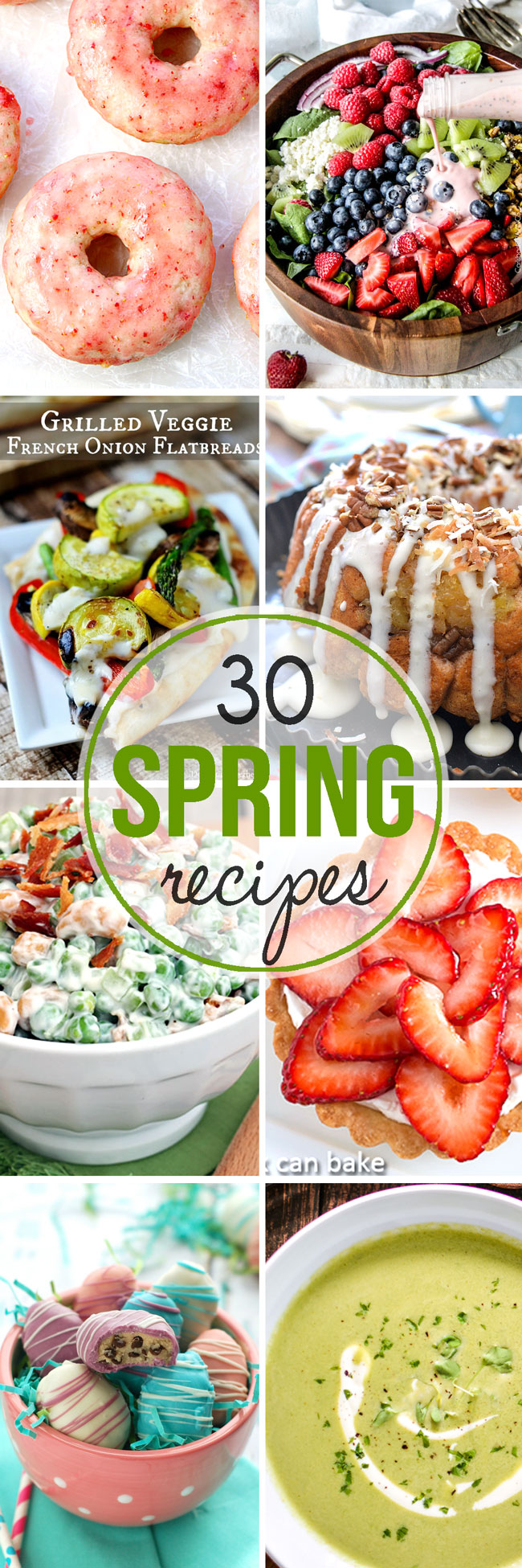 Get that grill fired up and that fresh produce chopped! Here are 30+ Spring Recipes to celebrate!