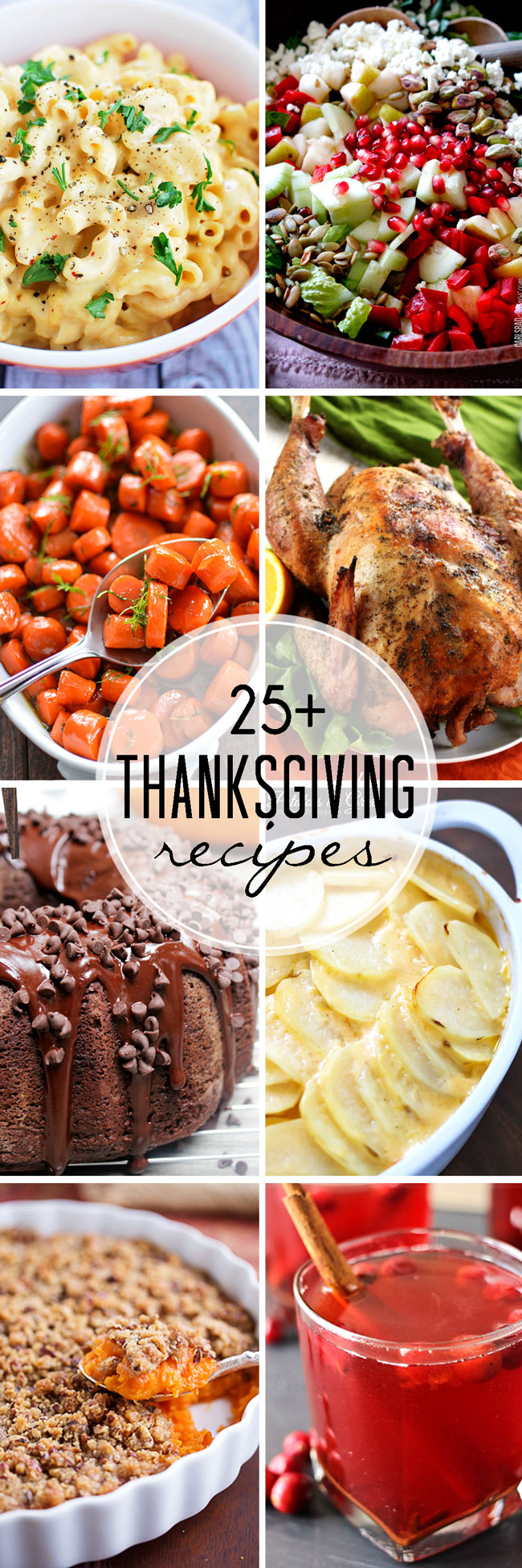 25+ Thanksgiving Recipes: a helpful guide to planning your Thanksgiving dinner!