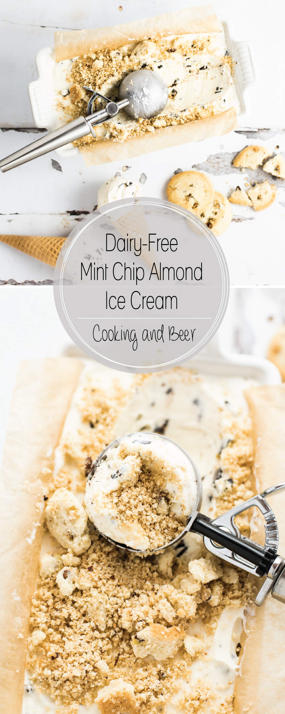 Dairy-Free Mint Chip Almond Ice Cream is a creamy, smooth, and super refreshing way to cool down this summer!