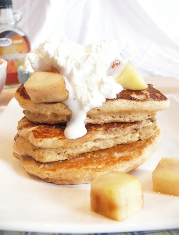 Ten-Grain Pancakes with Sautéed Apples