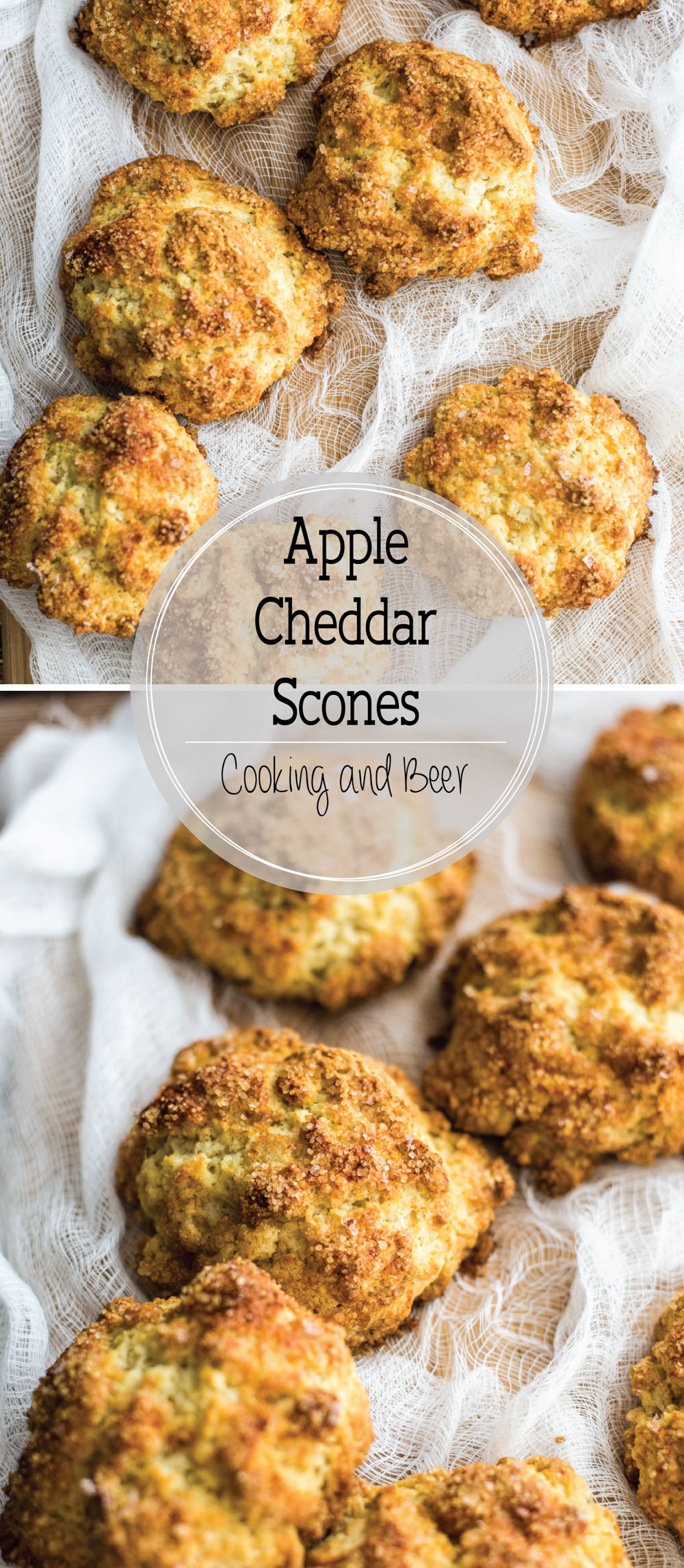 Apple cheddar scones are the perfect example of a sweet and savory colliding into one. They are the perfect breakfast bites!