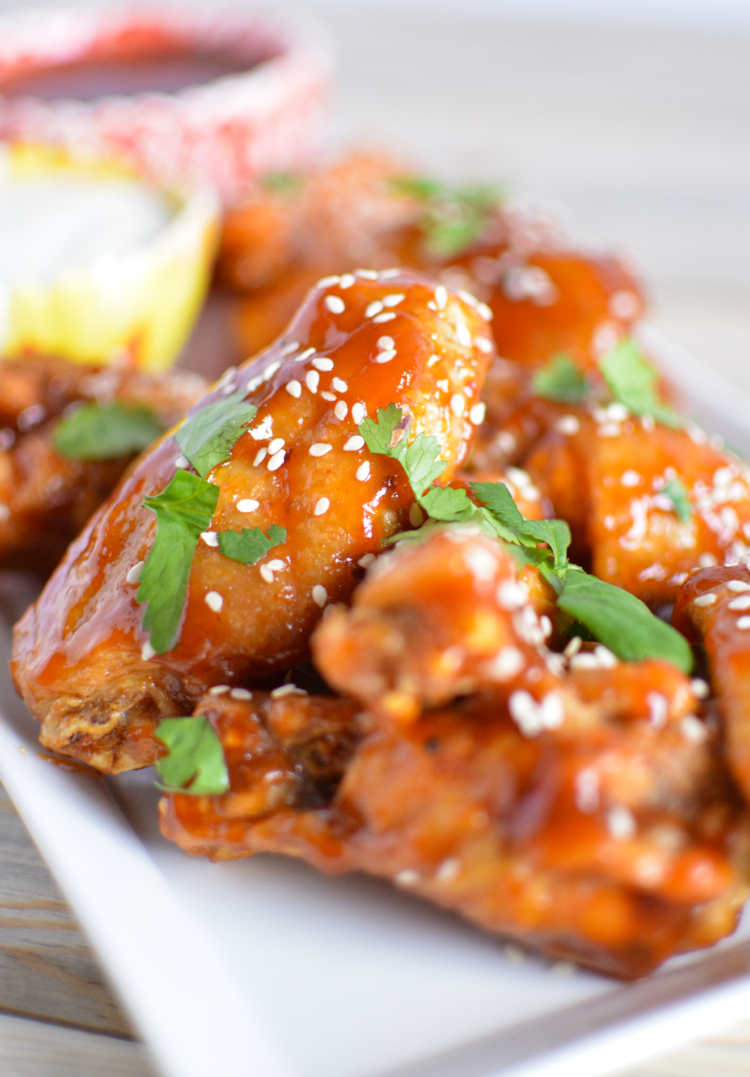 Sweet and Spicy Asian-Style Chicken Wings