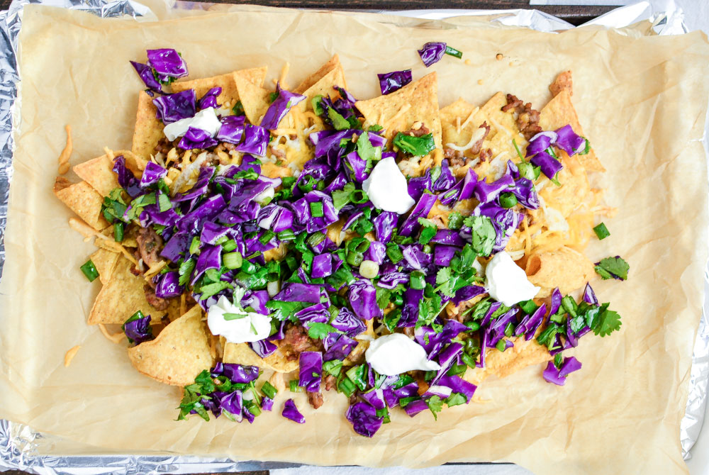 Asian-Style Nachos are the perfect spin on a classic game day recipe!