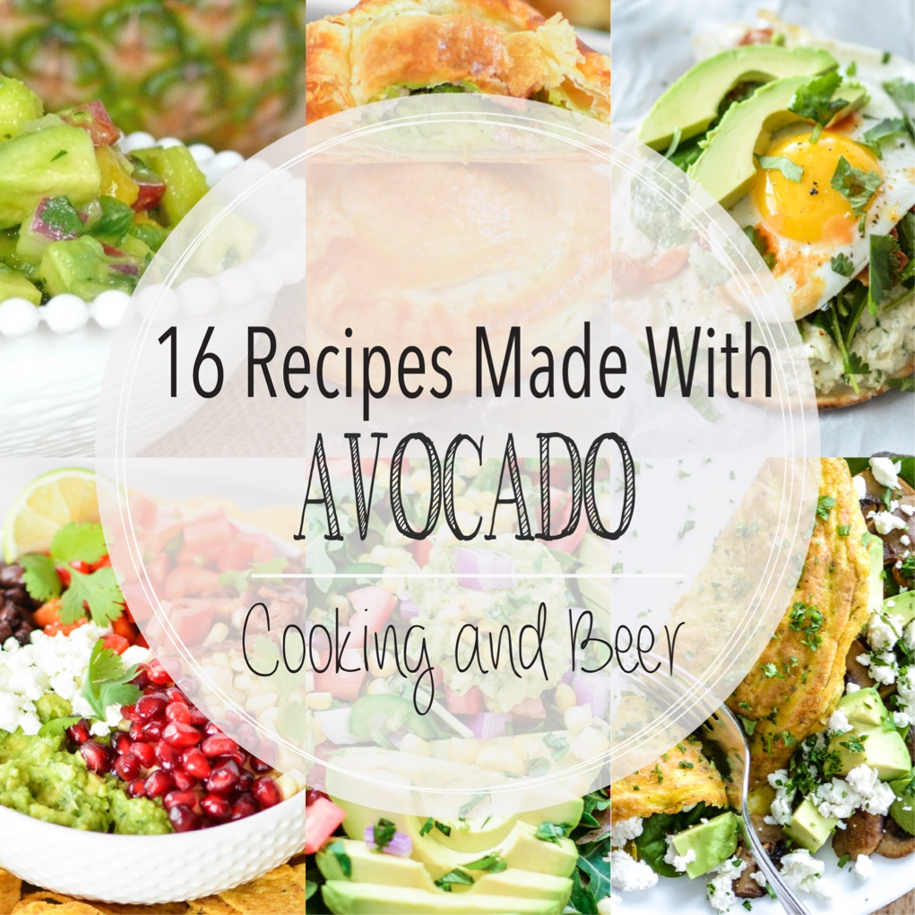 From salsa to salad and from omelets to pastries, here are 16 recipes made with avocados! Add them to your menu plans ASAP!