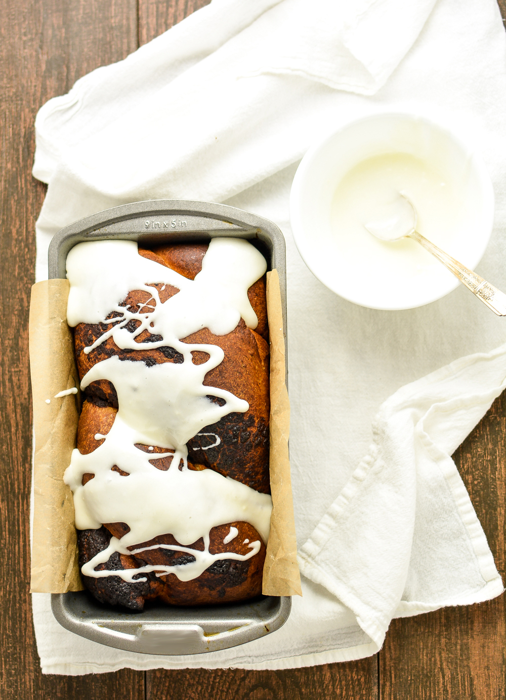 This not so traditional Chocolate Hazelnut Babka with Cream Cheese Glaze is the perfect sweet bread for breakfast or dessert!