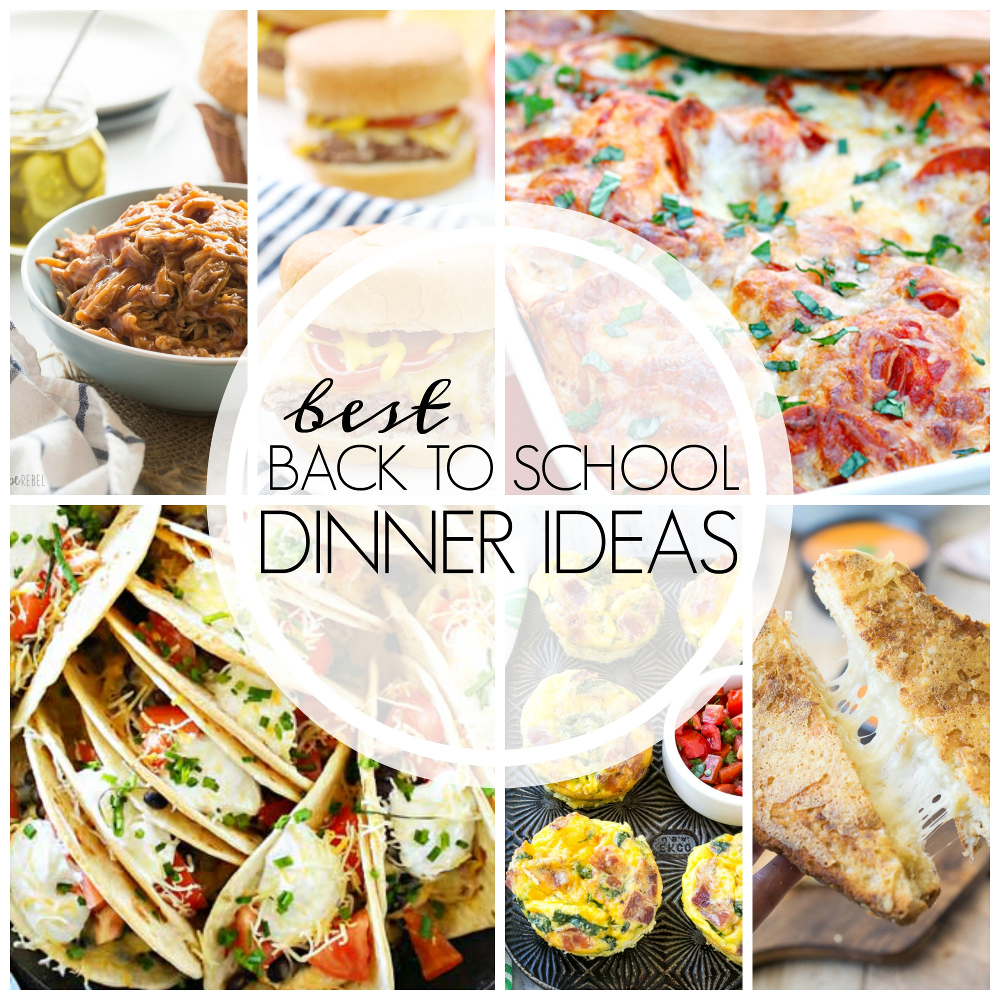From tacos to casseroles and from grilled cheese to pasta, here are some of the best back to school dinner ideas to start the school year off right!