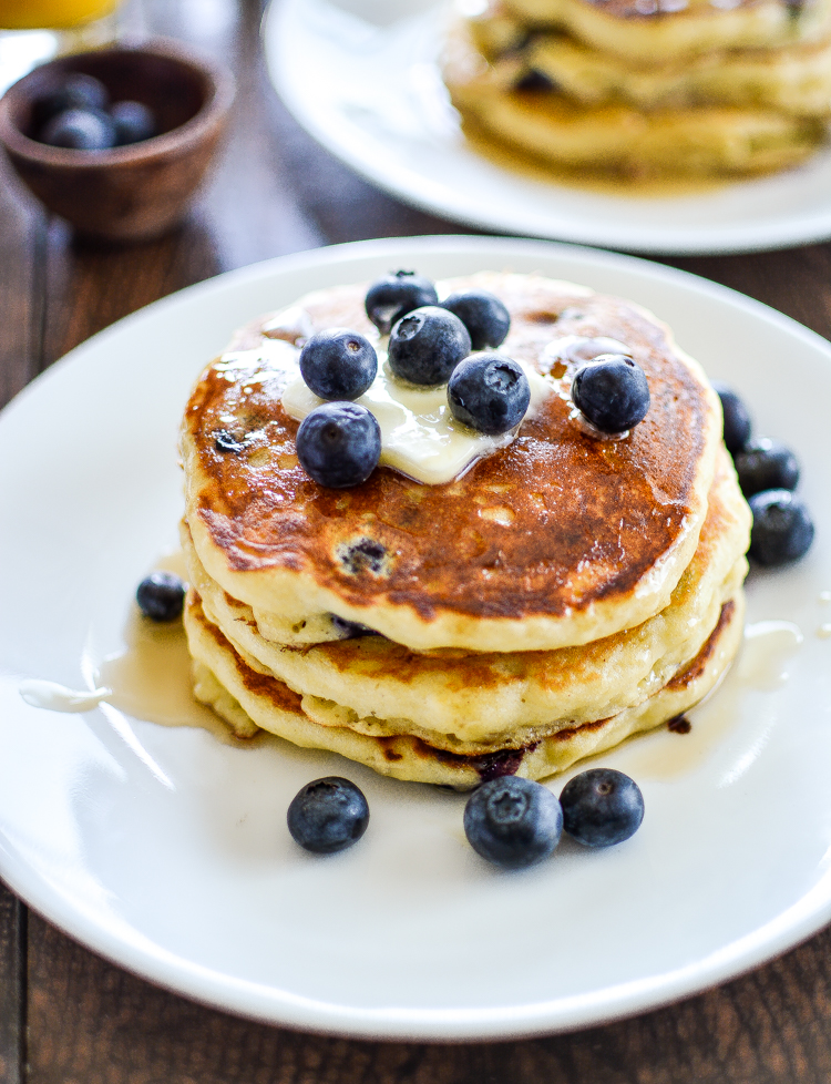 Blueberry Cornmeal Pancakes: a fun spin on a breakfast classic that ...
