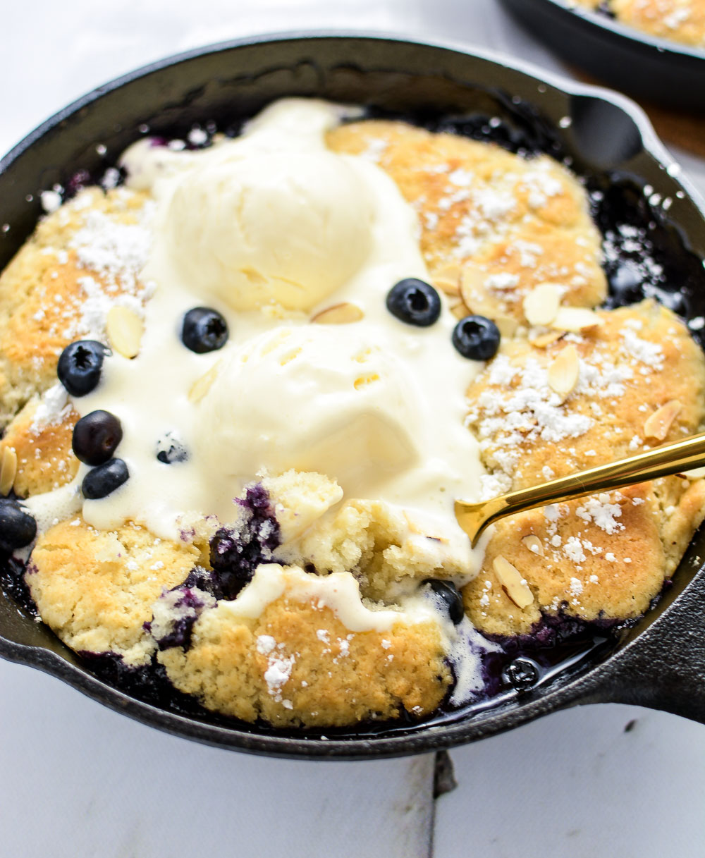 Sweet Bourbon Blueberry Cobbler