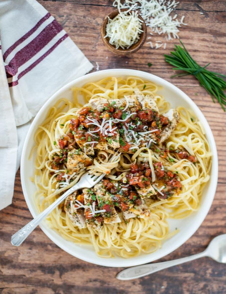 Bruschetta Pasta with Chicken