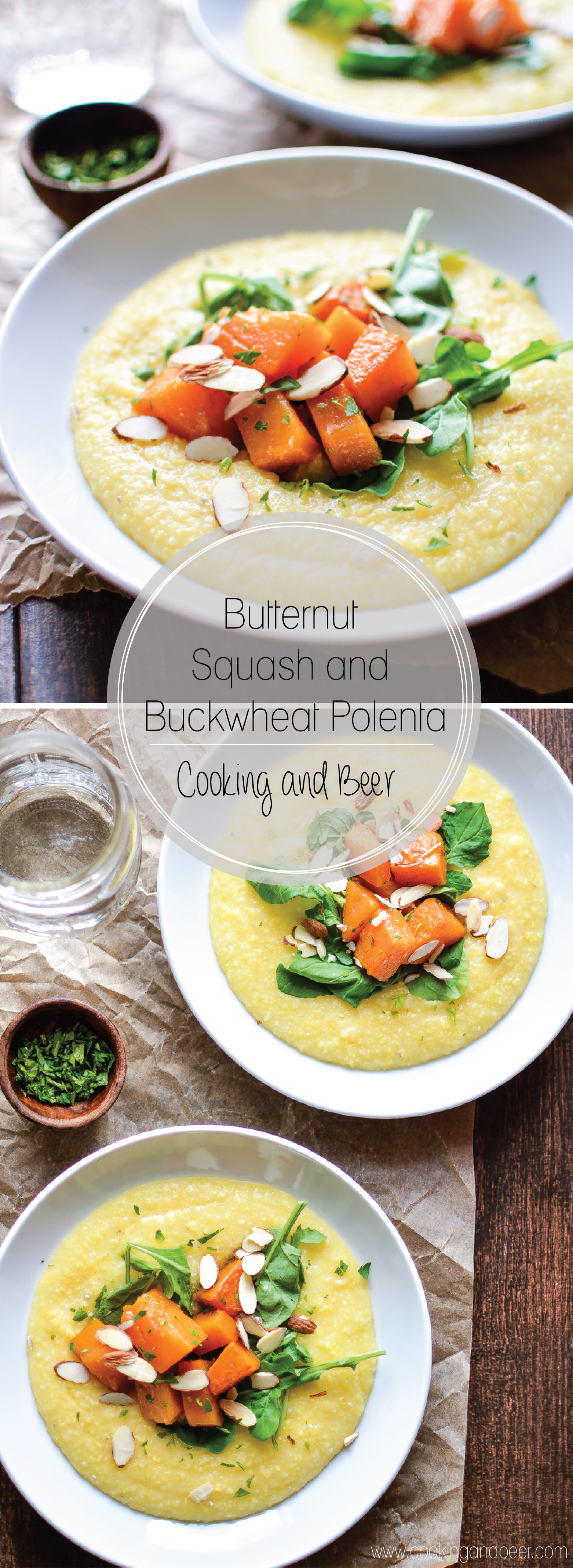 Butternut Squash and Cheesy Buckwheat Polenta: a fall spin on a classic dinner recipe that incorporates buckwheat!