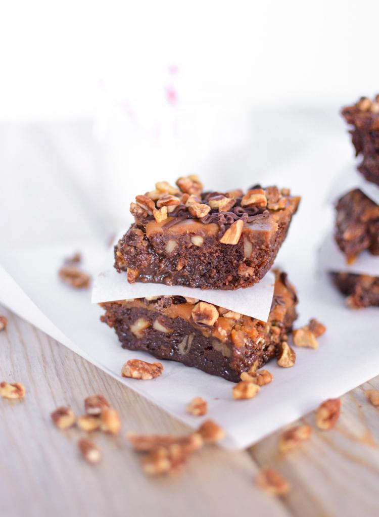 Caramel Pecan Fudge Brownies