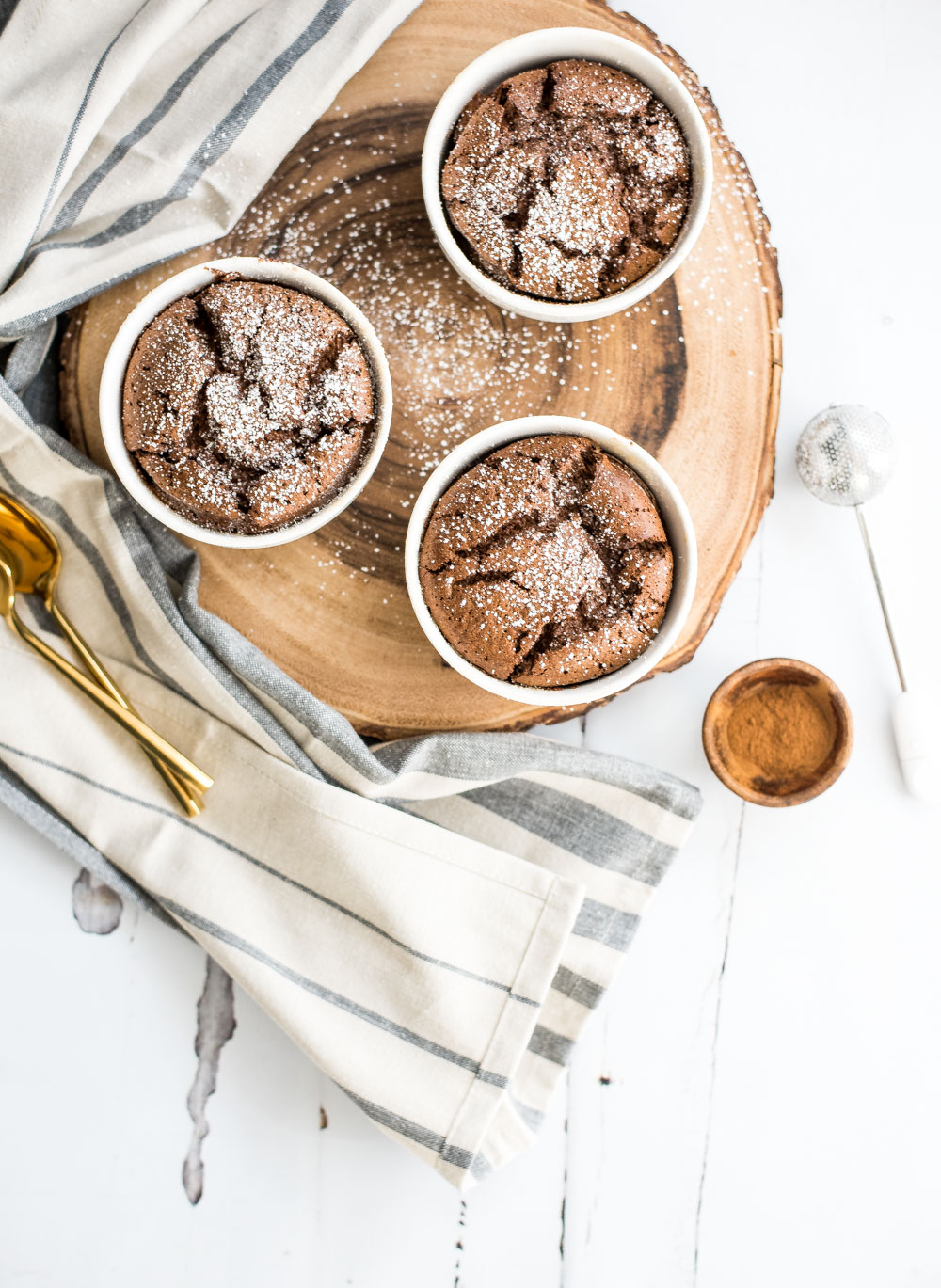 Easy cinnamon chocolate soufflés are nothing to be scared of. Soufflés are actually very simple once you get the technique down, so give this recipe a try!
