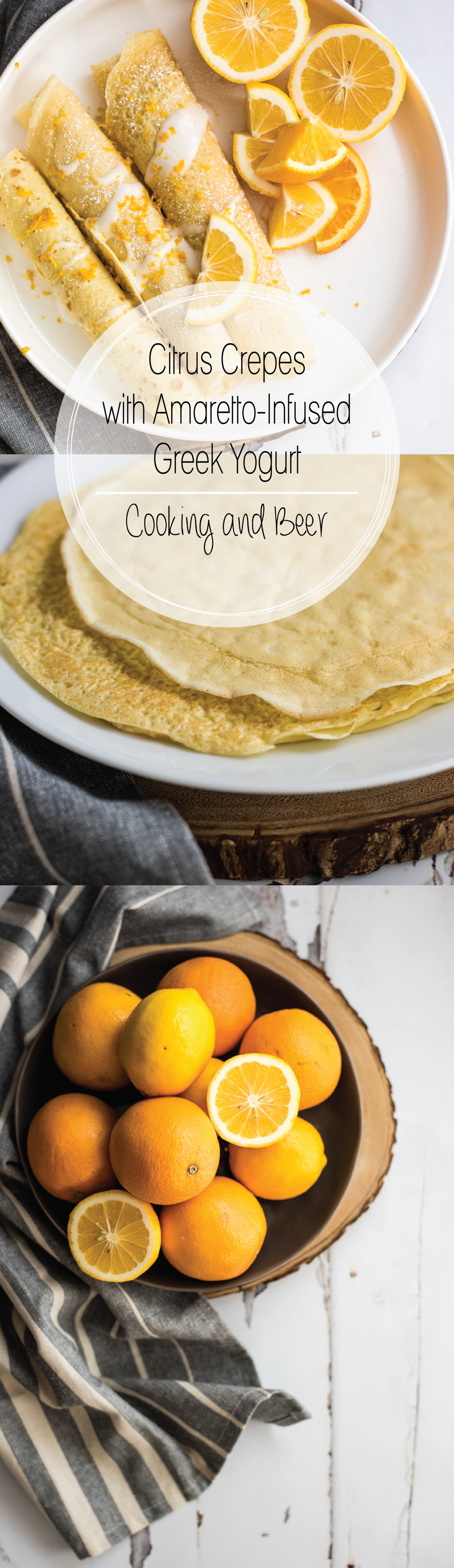 Citrus Lavender Crepes with Amaretto-Infused Greek Yogurt are the perfect addition to your weekend brunch menus! They are bright and super simple to make!