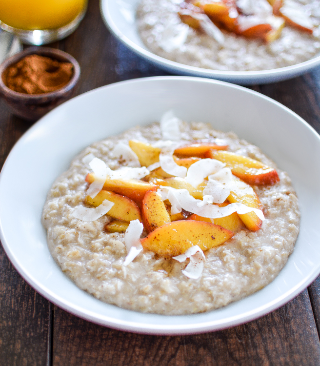 Coconut Breakfast Pudding With Sauteed Nectarines Recipe ...