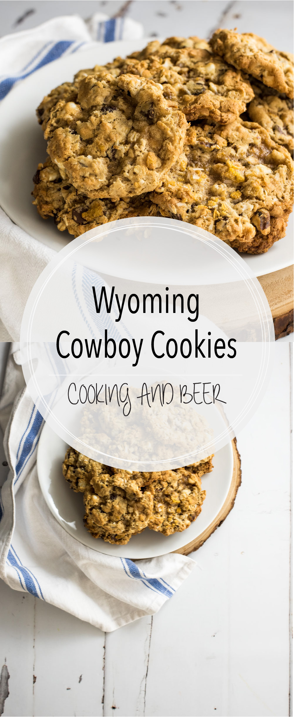 If you are looking for a loaded chocolate chip/oatmeal cookie, these Wyoming cowboy cookies are for you! You won't be able to have just one!