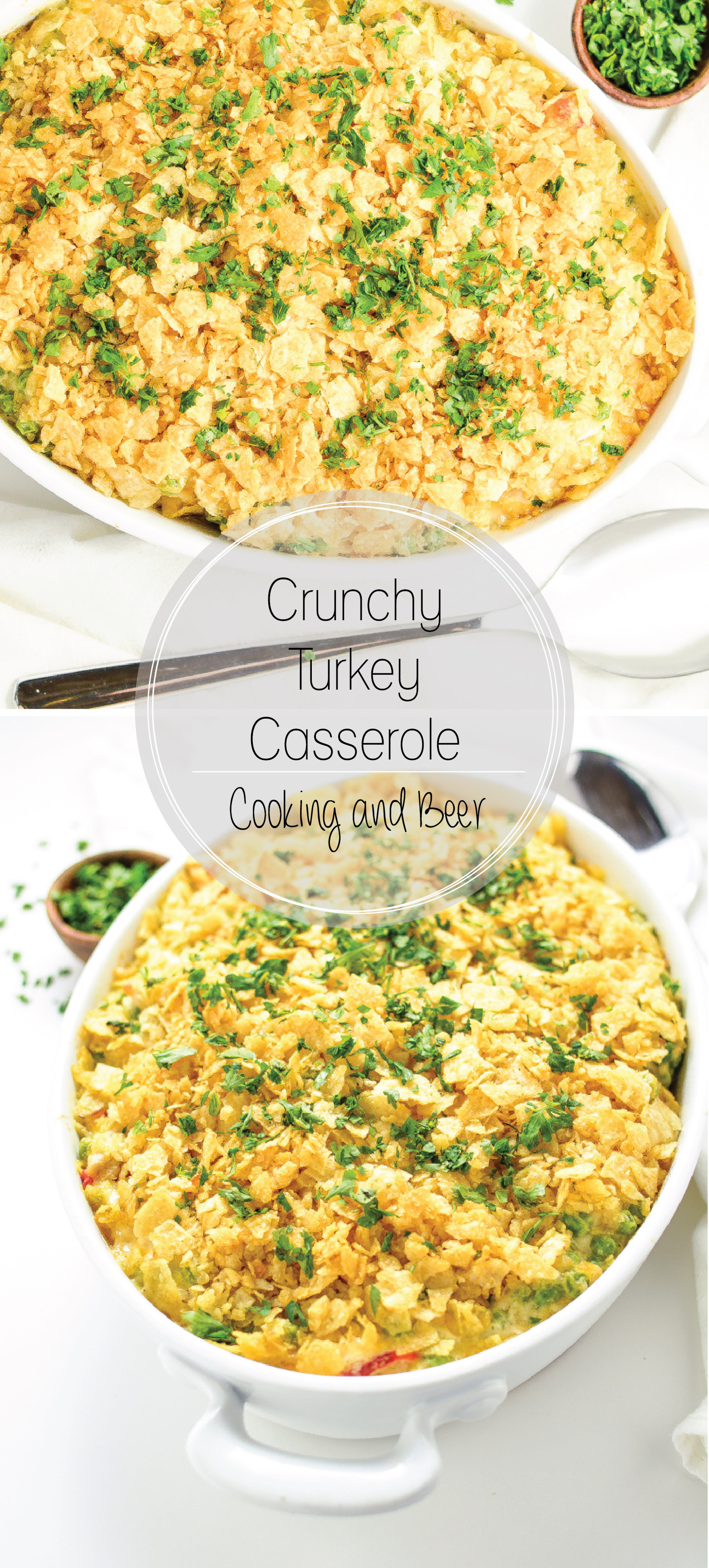 Put those Thanksgiving leftovers to use by making this addicting crunchy turkey casserole!