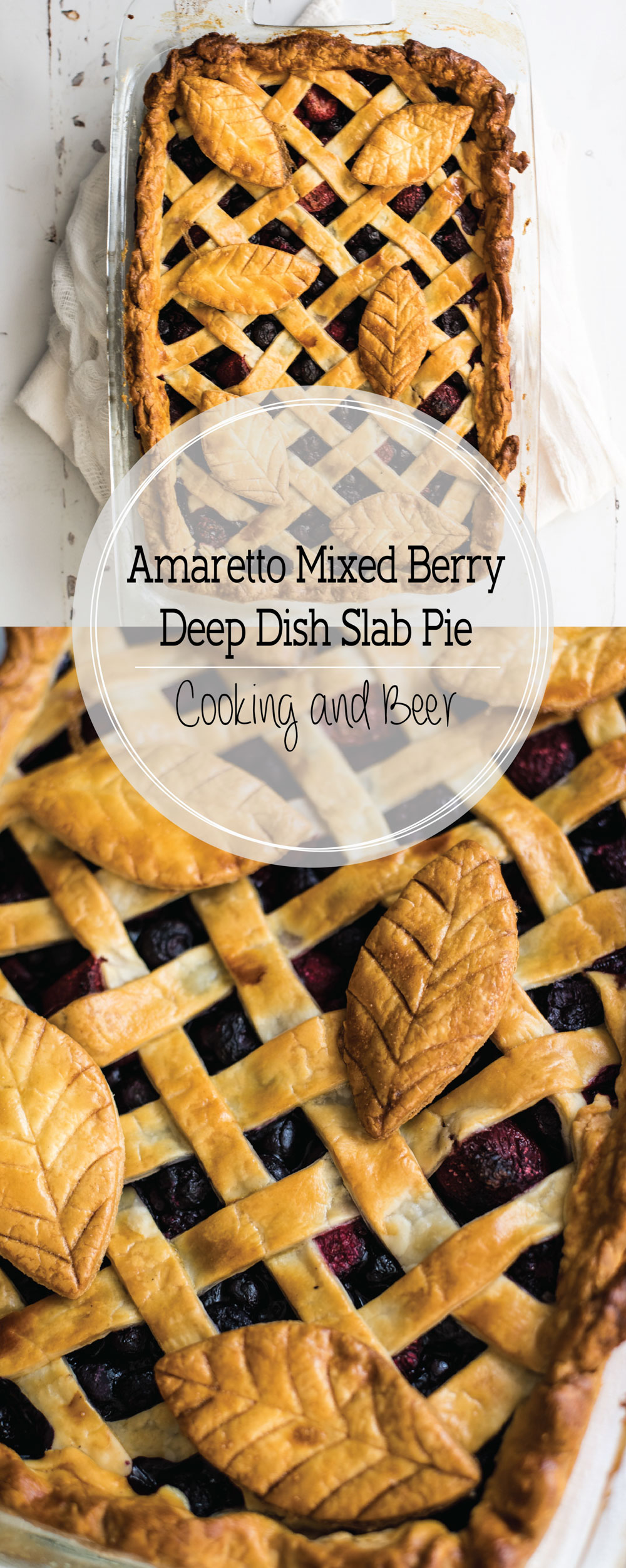 Amaretto Amaretto Mixed Berry Deep Dish Slab Pie Deep Dish Slab Pie is the perfect dessert recipe for your Thanksgiving spreads!