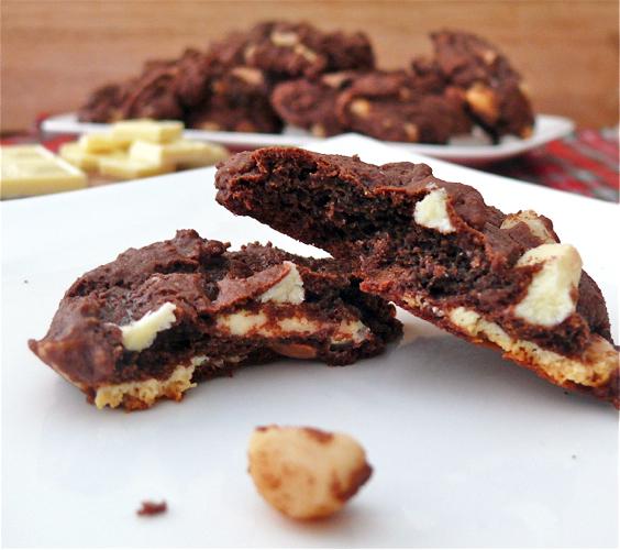 Day 9 - Double Chocolate White Chocolate Chunk Macadamia Nut Cookies ...