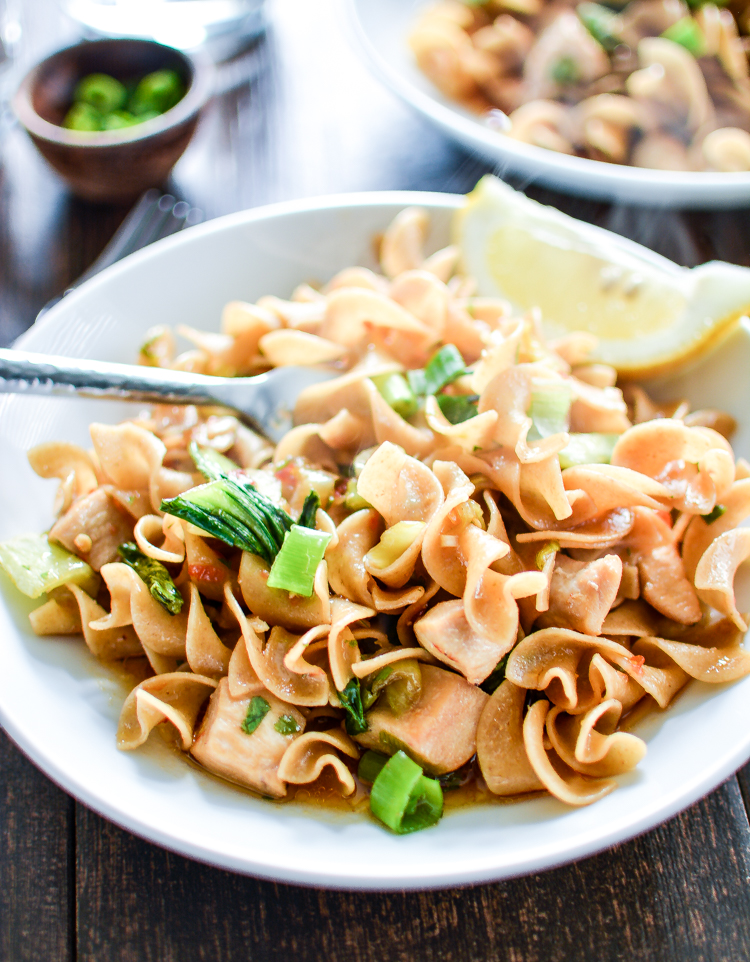 Drunken Noodles with Chicken is a quick and delicious weeknight recipe that the whole family will go crazy over! | www.cookingandbeer.com