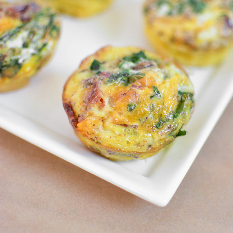 Bacon and Kale Egg Muffins