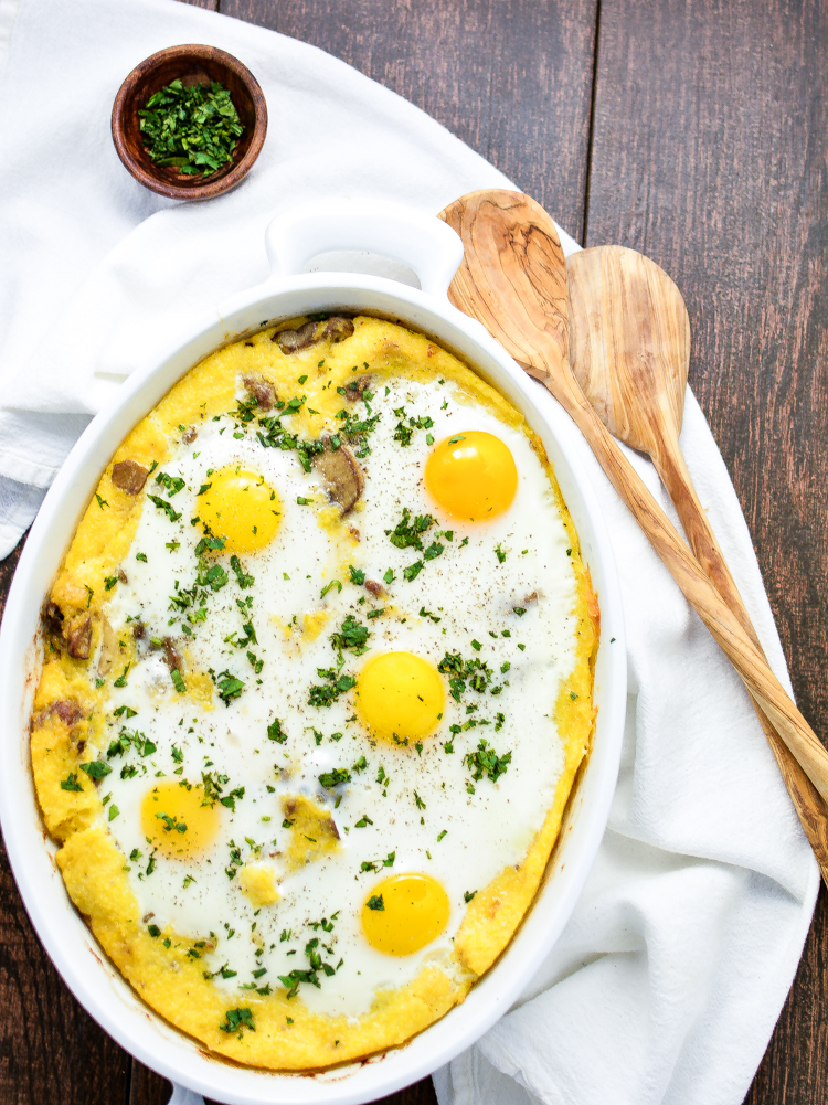 Sausage Polenta Breakfast Bake - a breakfast/brunch recipe that's simple and delicious!