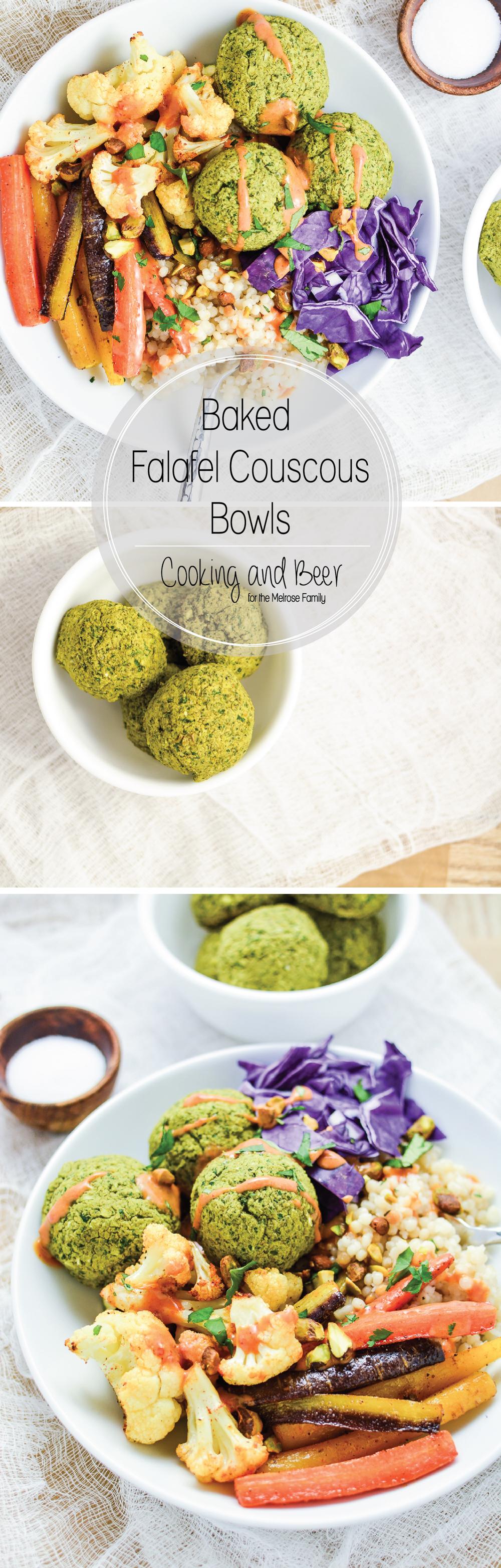 Baked Falafel Couscous Bowls