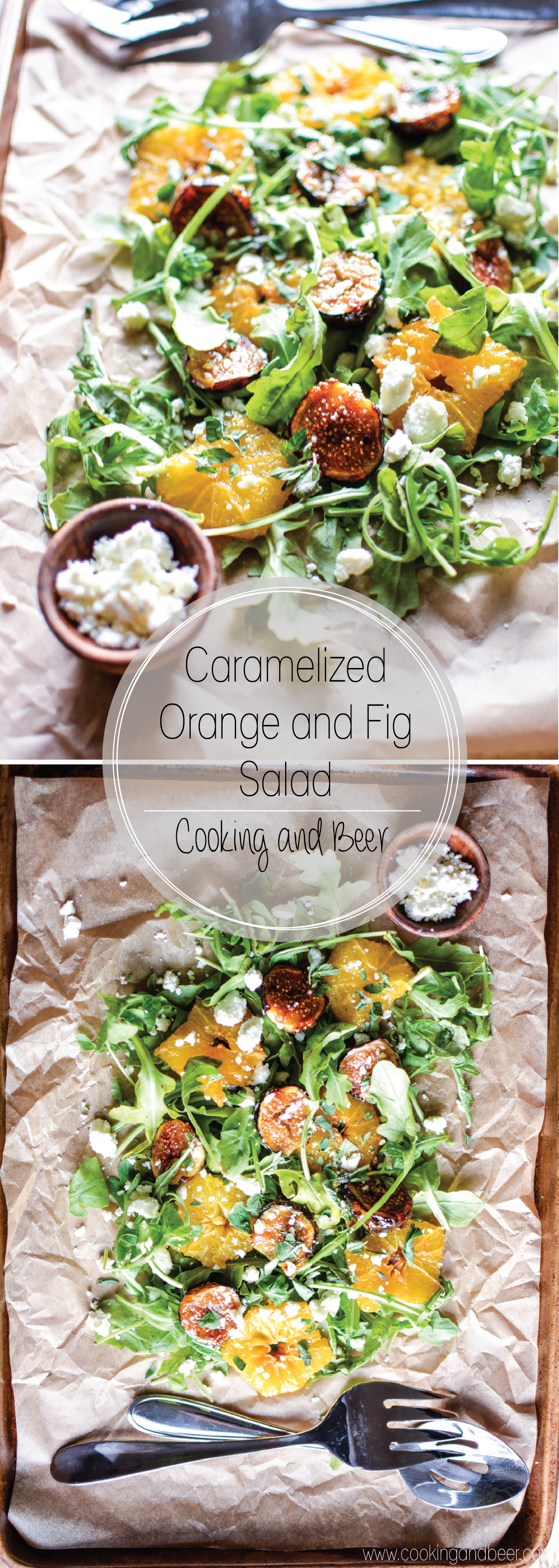 Caramelized Orange and Fig Salad: a light side dish or appetizer recipe!