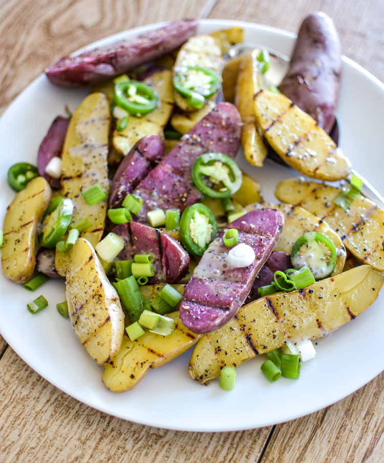 This recipe for grilled fingerling potato salad with chia seed ranch ...