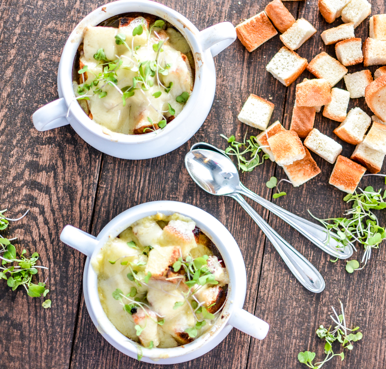 Brown Ale French Onion Soup | www.cookingandbeer.com | #soup #cookingwithbeer