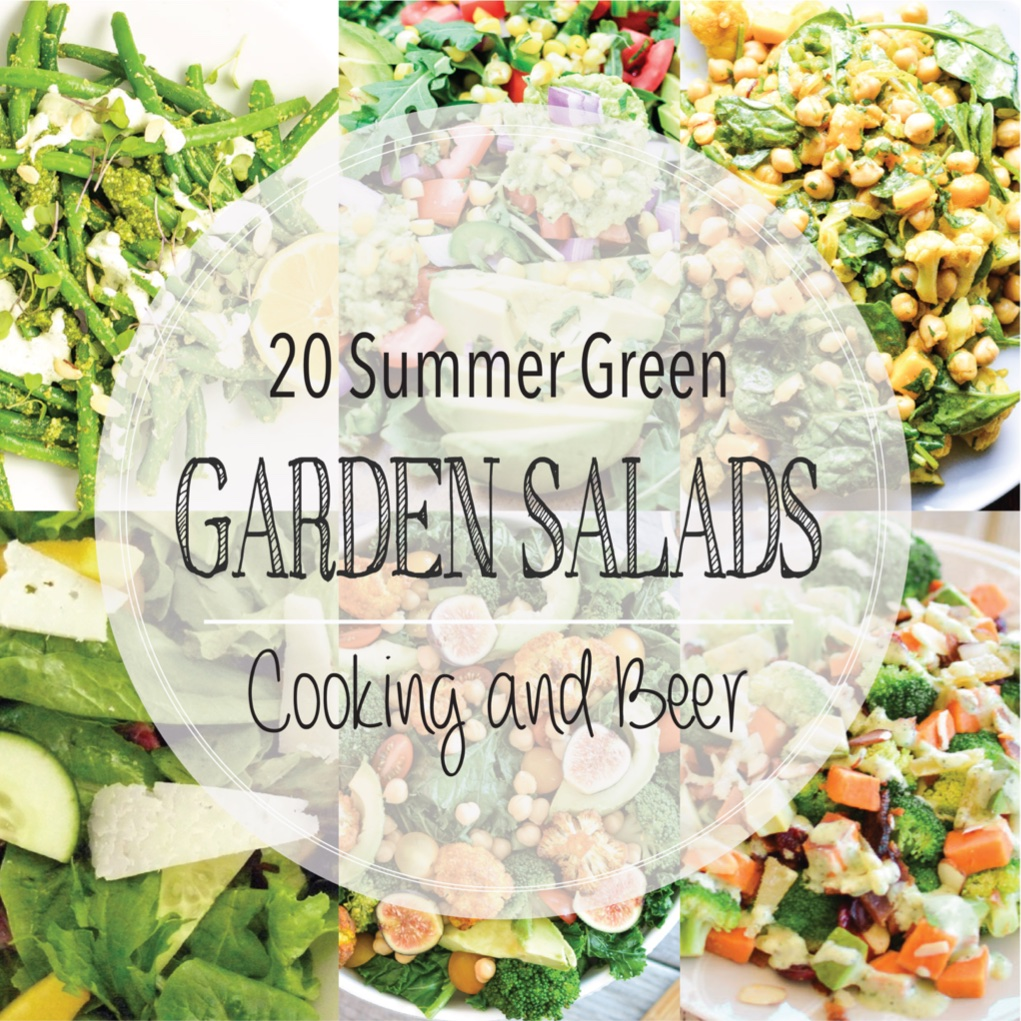 From steak to green beans and from cauliflower to kale, here are 20 summer green garden salads! Add them to your menu plans ASAP!