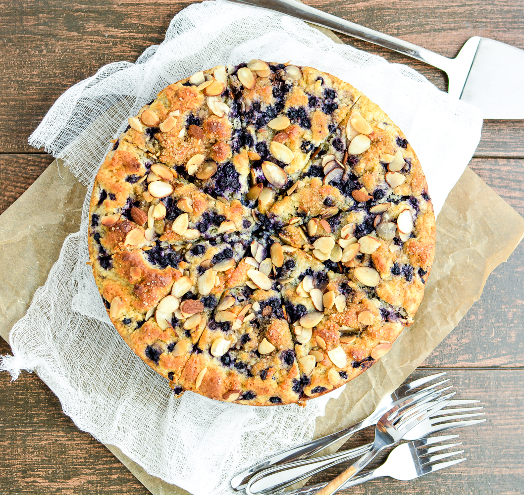 can find the recipe for this gluten free almond blueberry coffee cake ...