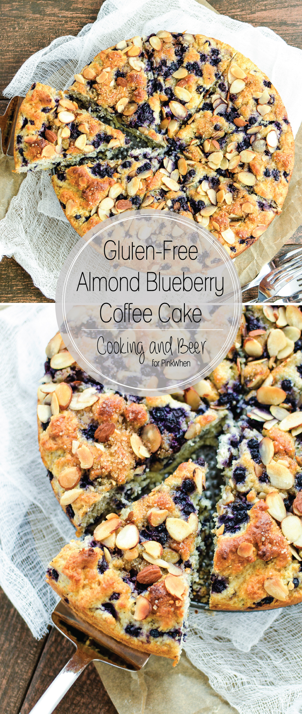 Gluten Free Almond Blueberry Coffee Cake is the perfect breakfast treat to serve with your morning cup of coffee!