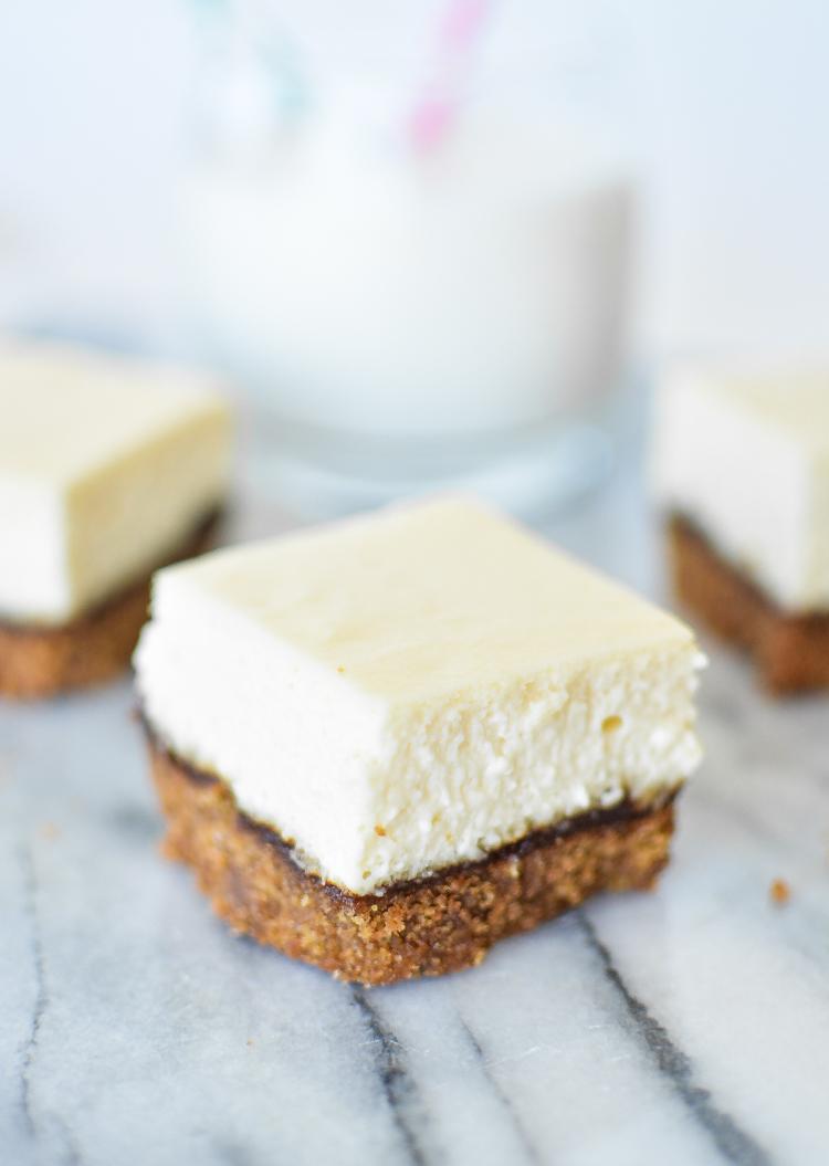 Ginger Cheesecake Bars Recipe — Dishmaps