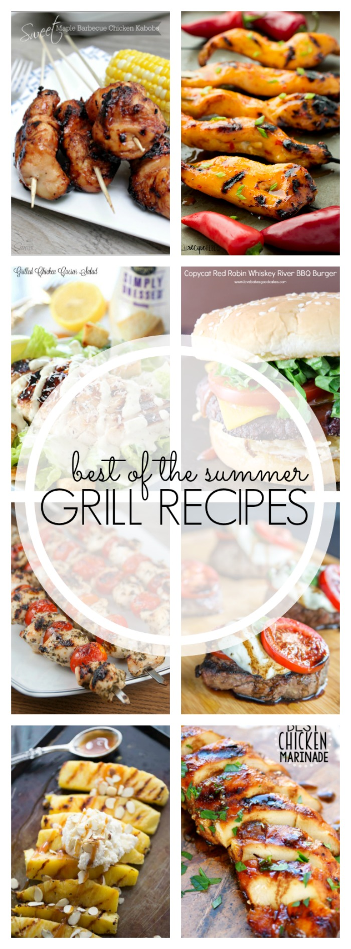 From spiraled hot dogs to chicken skewers and grilled salads to the perfect cheeseburgers, here are some of the best of summer grill recipes!