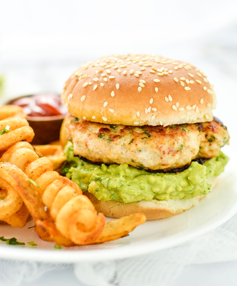 Grilled Chicken Burgers With Guacamolecooking And Beer
