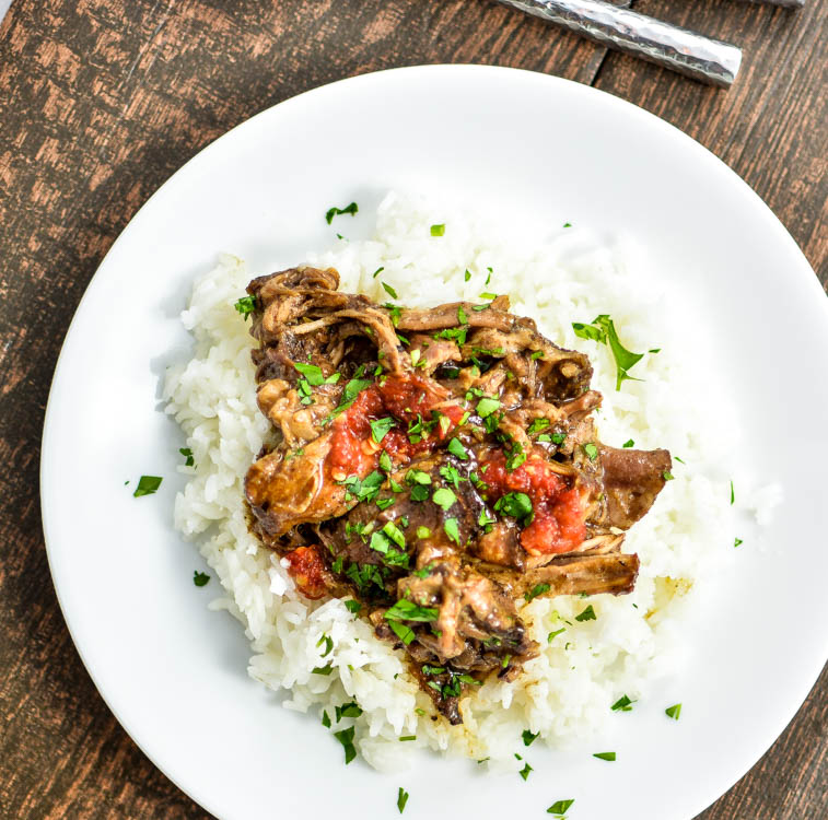 Slow Cooker Honey Balsamic Pork | www.cookingandbeer.com