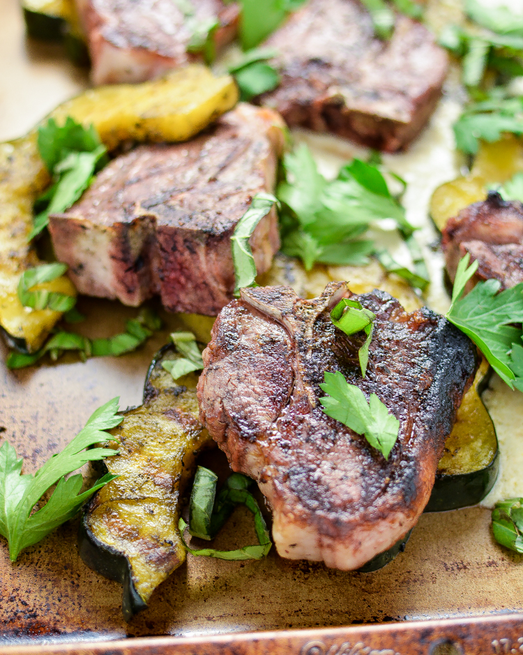 Pan-Seared Lamb Chops with Roasted Acorn Squash: a fall-inspired dish that really packs some flavor.