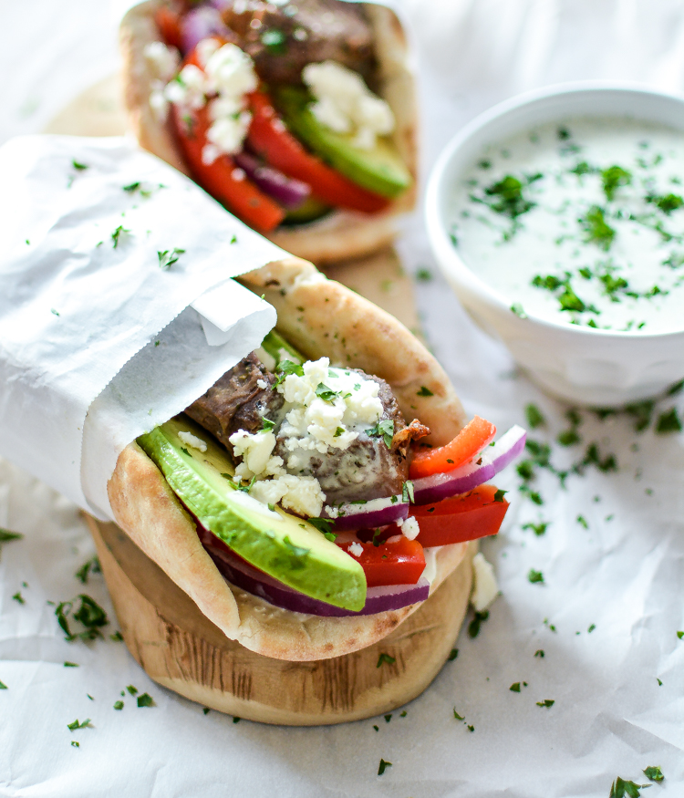Lamb Gyros With Spicy Tzatzikicooking And Beer