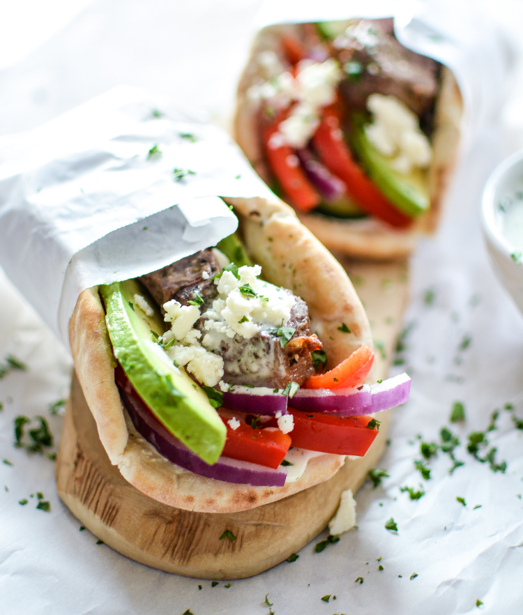 Recipe for Lamb Gyros with Spicy Tzatziki is perfect for lunch or dinner! | www.cookingandbeer.com