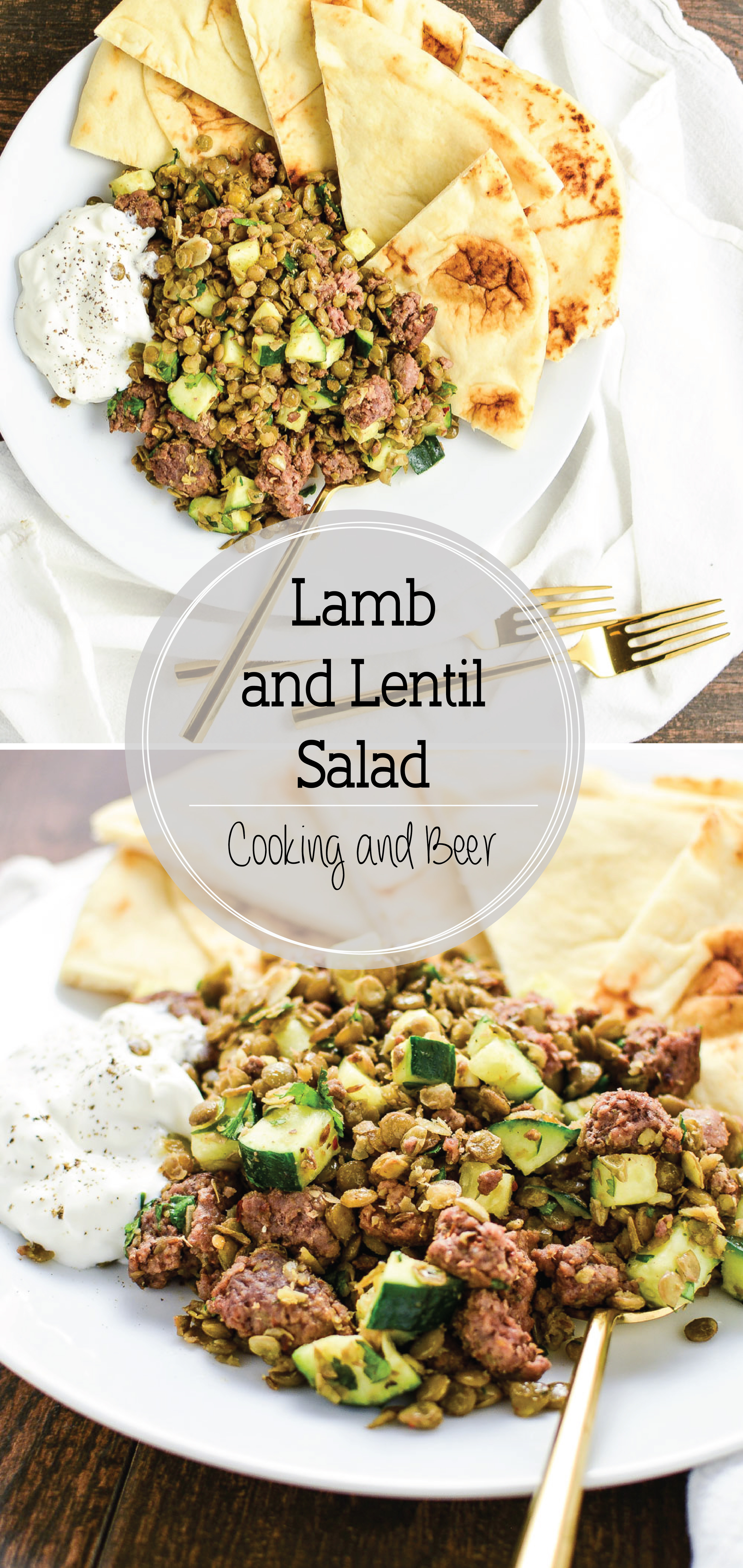 Spicy Lamb and Lentil Salad is the perfect appetizer or side dish recipe. It is full of texture, flavor and nutrients!
