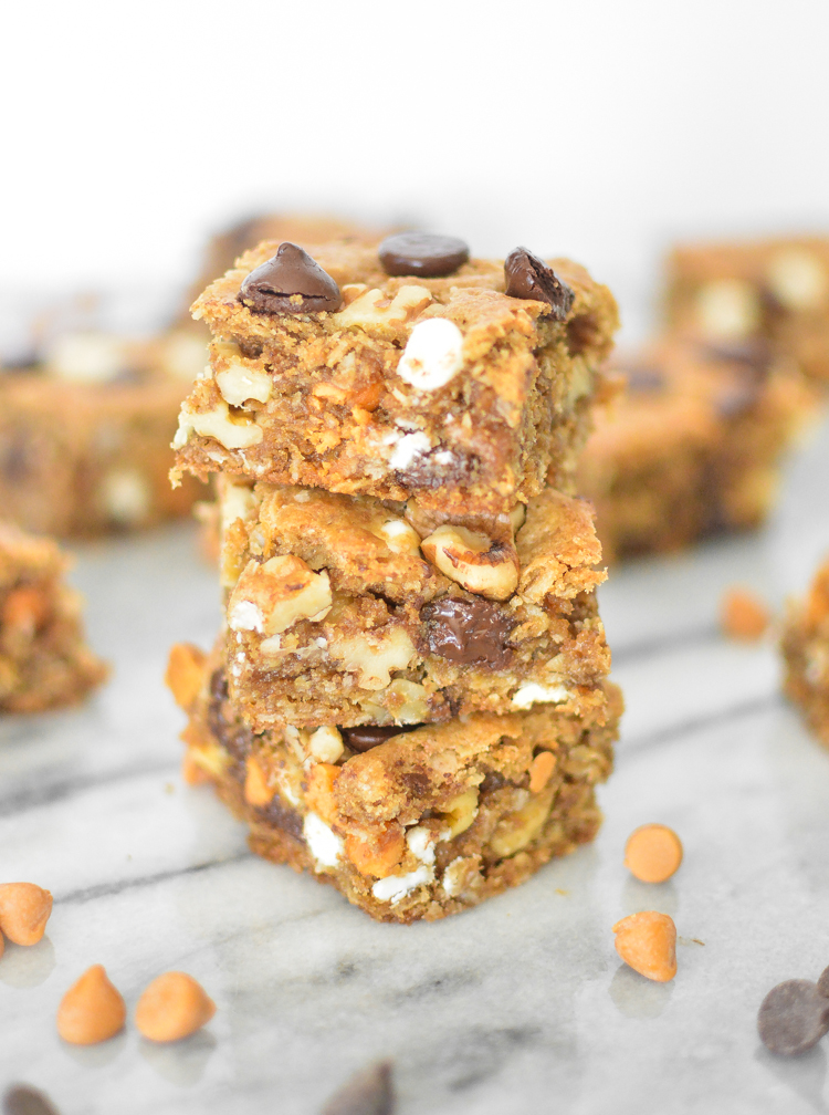 Loaded Oatmeal Cookie Bars