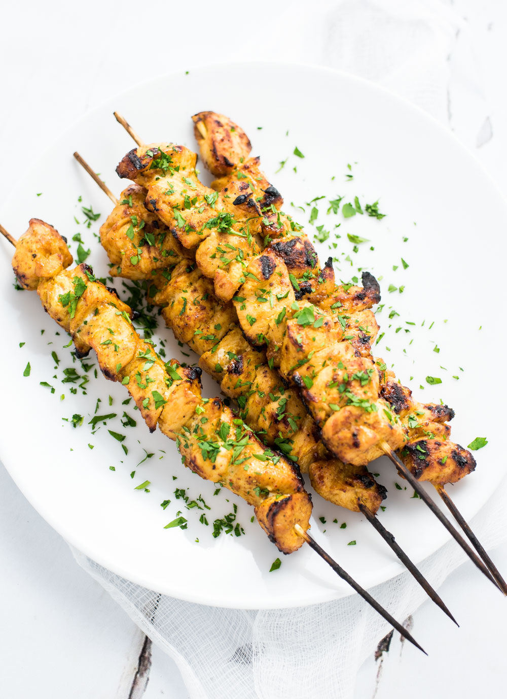 Grilled Mango Curry Chicken Skewers are an upscale outdoor weeknight ...