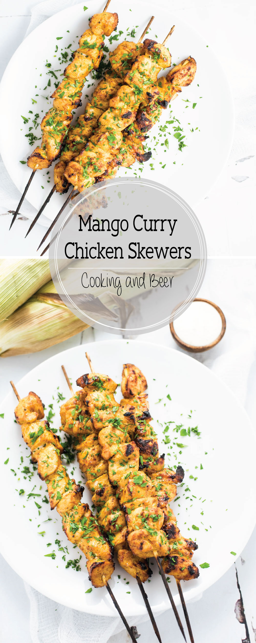 Grilled Mango Curry Chicken Skewers are an upscale outdoor weeknight or weekend dinner recipe! They are great in tacos, on salads, or all by themselves!