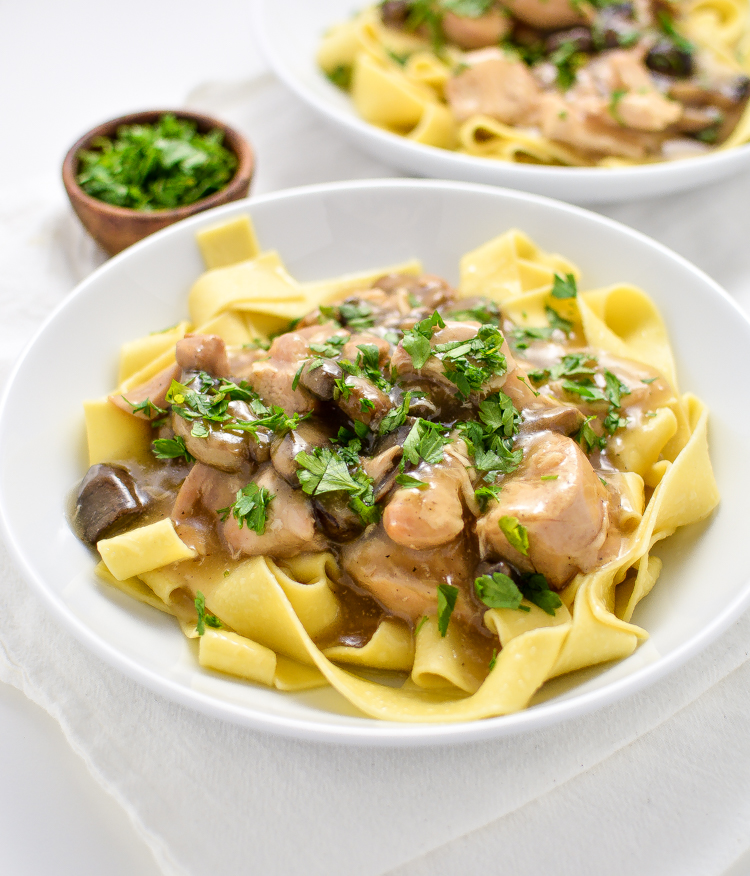 Slow Cooker Chicken Marsala Stew is a weeknight-friendly dinner recipe that's hearty, comforting and delicious!