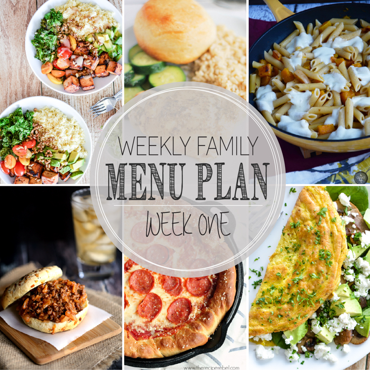 Weekly Family Menu Plan: A weekly addition of thoughtfully prepared recipes to get you through those busy weeks.   www.cookingandbeer.com