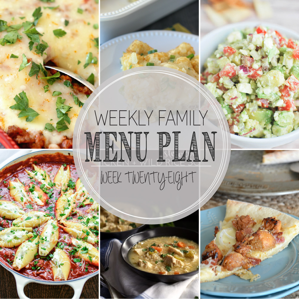 Weekly Family Menu Plan: A weekly addition of thoughtfully prepared recipes to get you through those busy weeks. | www.cookingandbeer.com