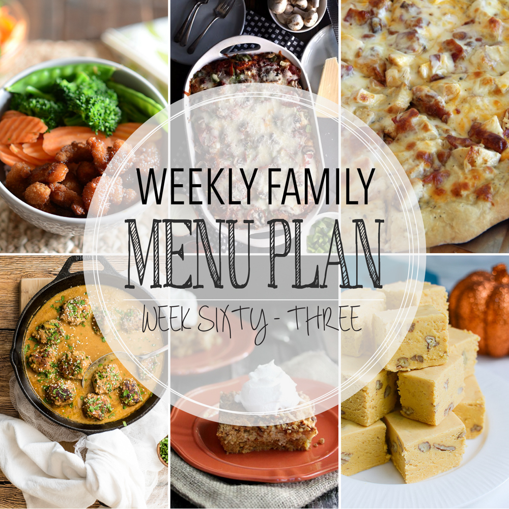 Weekly Family Menu Plan: A weekly edition of thoughtfully prepared recipes to get you through those busy weeks. | www.cookingandbeer.com