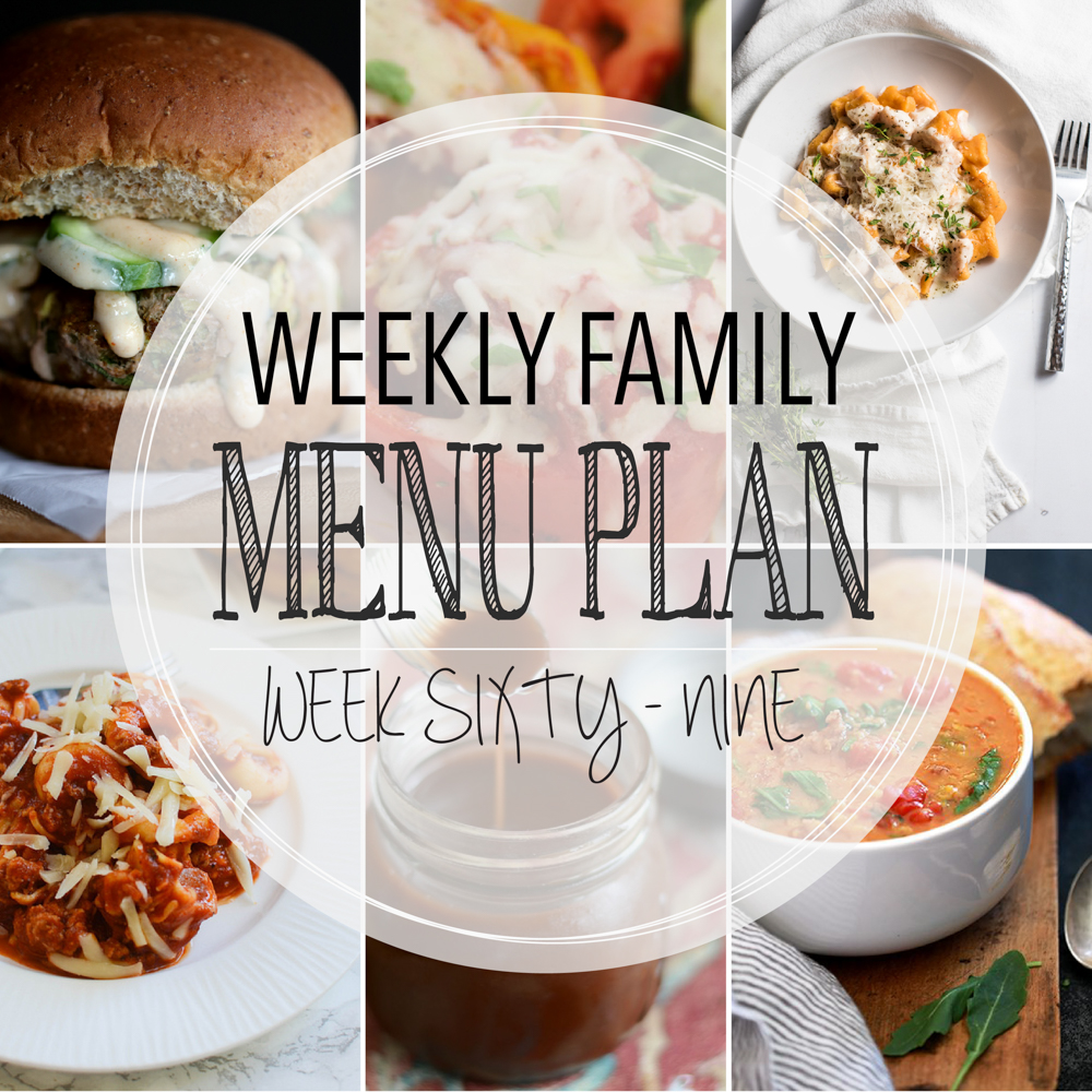 Weekly Family Menu Plan - Week Sixty-Nine is brought to you by a group of food bloggers who love to plan ahead! A weekly edition of thoughtfully prepared recipes is rounded up to get you through those busy weeks! | www.cookingandbeer.com